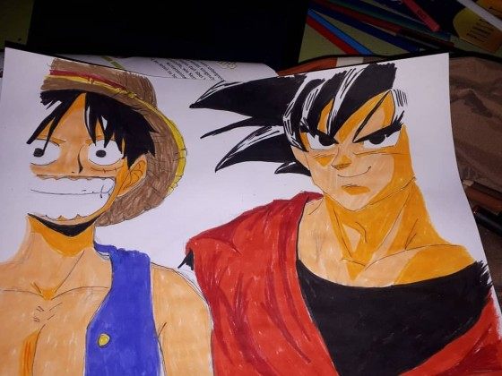 One piece & son goku