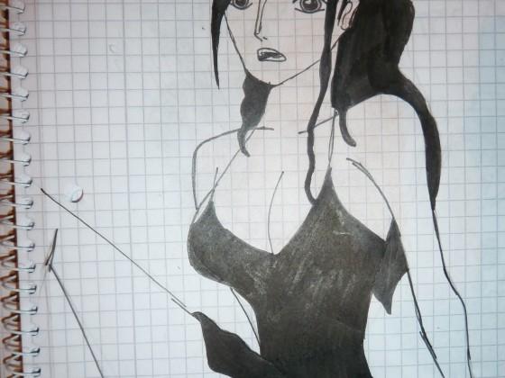 Zeichentuscheübung Robin