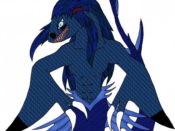 Kyōjin Meeressirene-Tierform (Modell: Schwarzspitzenhai)