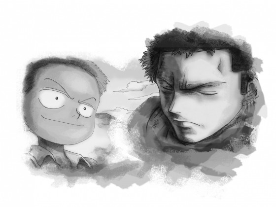 Zoro (Past / Present) Drawing