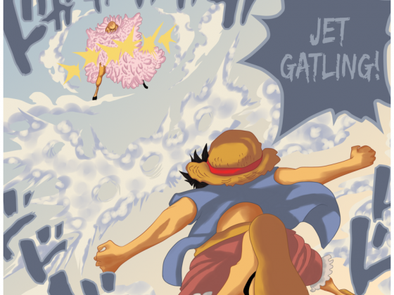 One Piece 745 - Jet Gatling ~~!!