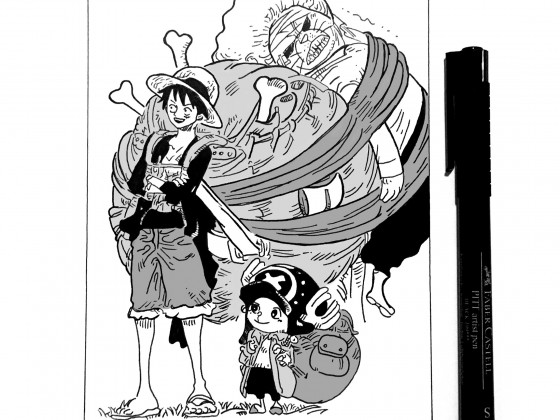 Luffy, Chopper & Pekoms