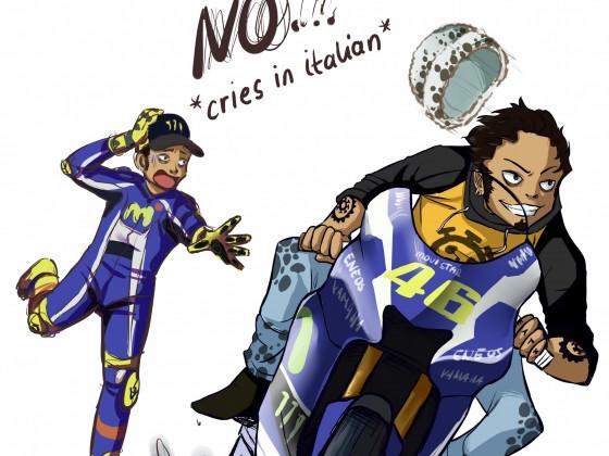 Trafalgar Law fährt Motorrad :'D