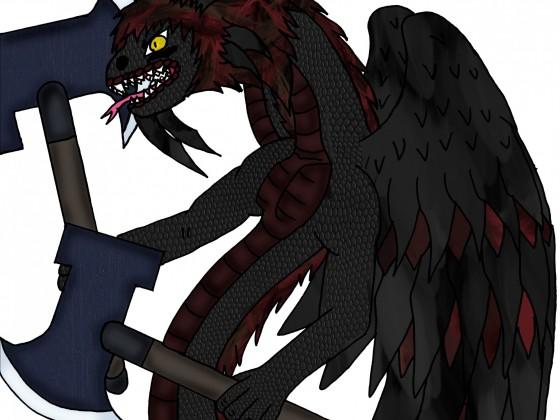 Berserker Amphitere-Tierform (drachenartig und mit Armen)