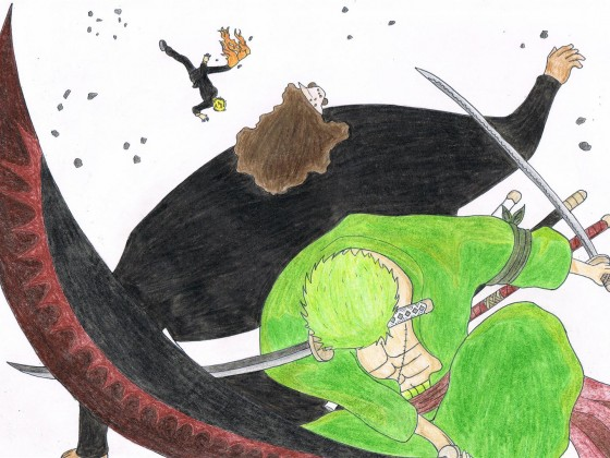 Zorro und Sanji vs. Pazifista