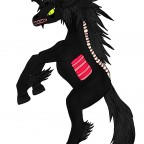 Corvus Nachtmahr Tierform (3 Hörner)
