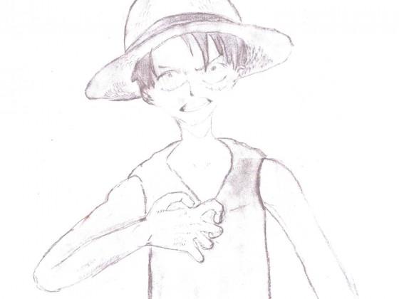Frühe Bleistiftzeichnung von Ruffy - Kapitel 231
