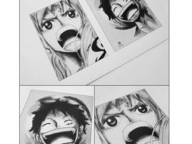 Nami & Luffy Zeichnung