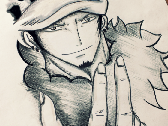 Trafalgar D. Water Law drawing