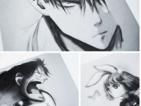 Zeichnungen_Collage Levi (Attack on Titan) Ace & Carrot