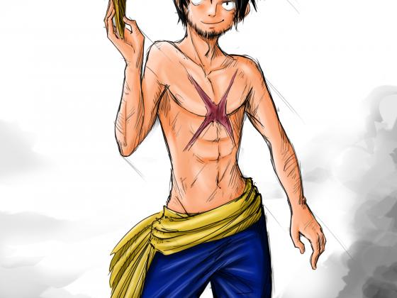 Luffy mit Bart