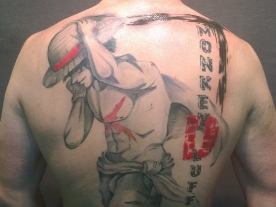 One Piece Monkey D. Luffy Tattoo