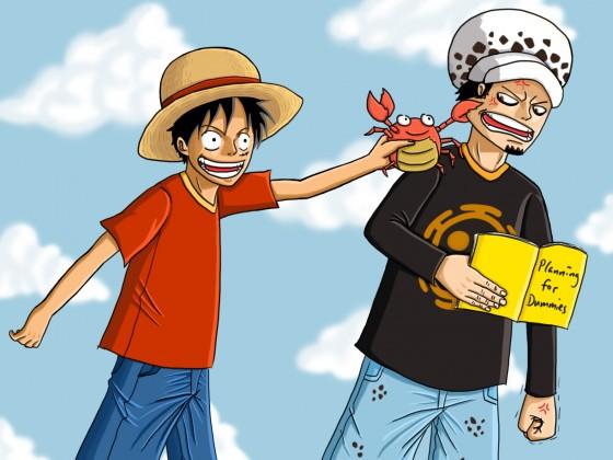 Luffy, Law und die Krabbe
