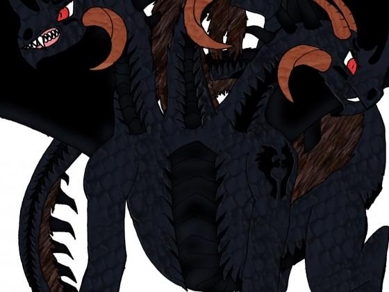 Deathrage Drachen-Tierform (3 Köpfig westerlich)