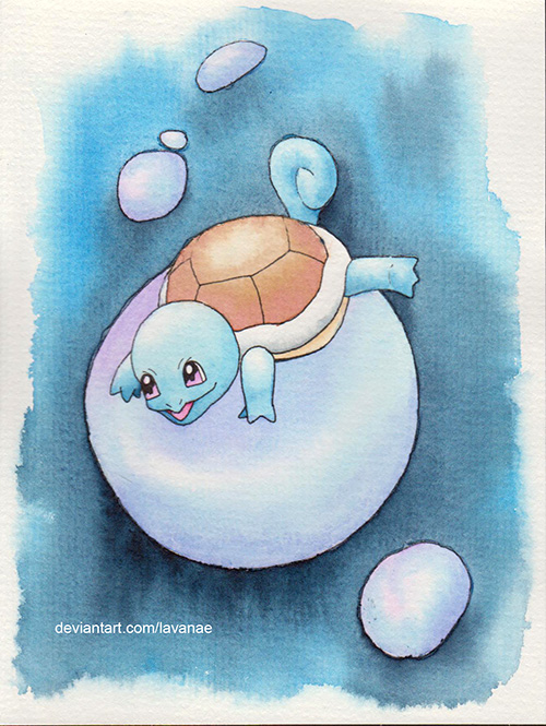 Squirtle on a bubble