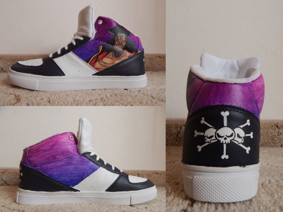 One Piece Schuhe: Blackbeard!