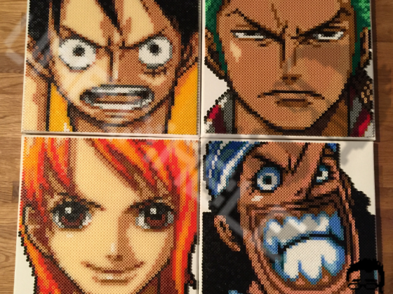 One Piece Crew - Ruffy, Zorro, Nami & Lysop