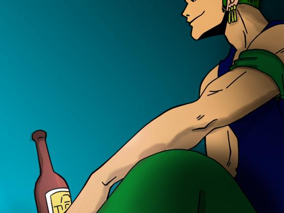 Coloration : Zorro mit Flasche